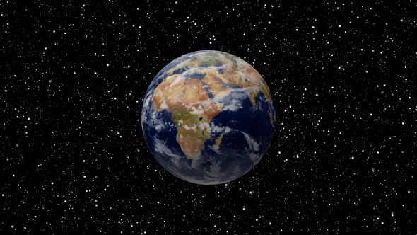 Flight Earth In Space